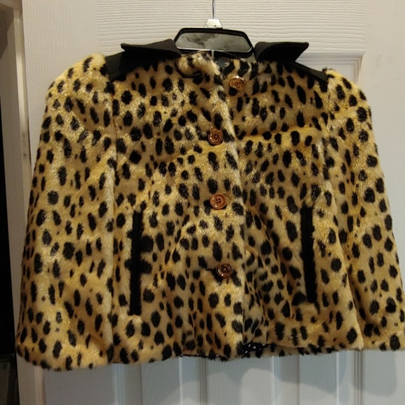 Juicy Couture Other - Juicy Couture Cheetah Faux Fur Kids Coat
